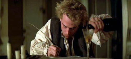 Tom Hulce plays Mozart in Amadeus