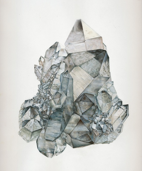 smoky quartz crystal art illustration drawing