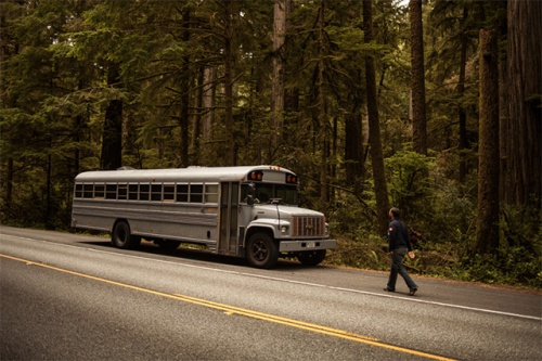 coverted school bus exterior
