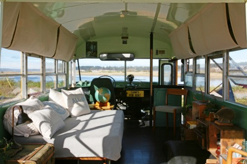 renovated school bus home