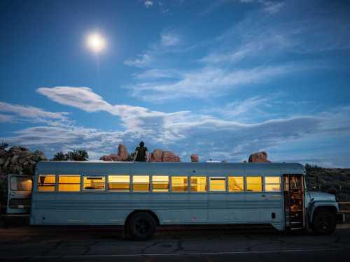 school bus home exterior