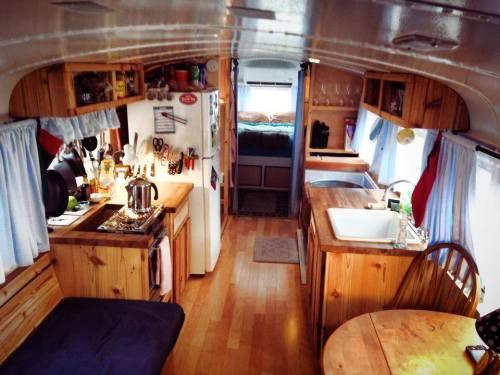 tiny home bus interior