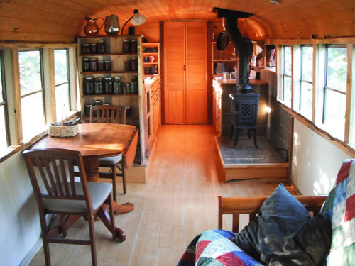 tiny home school bus home