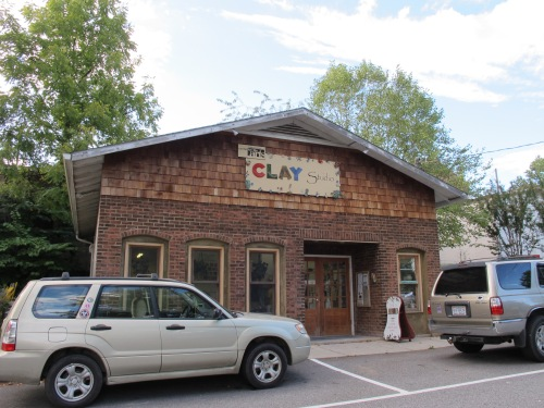 Next to the Black Mountain Arts Center is the Clay Studio.