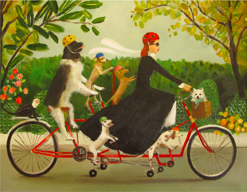 bicycle dogs JH