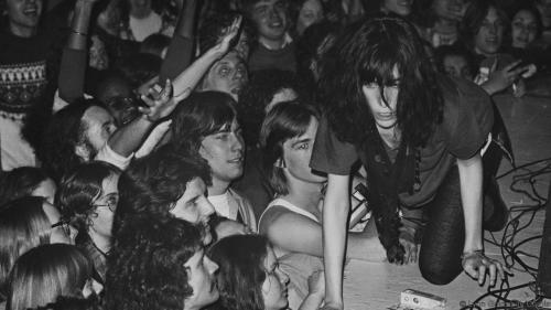 Patti Smith Crawling on Stage