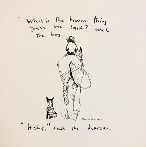 Charlie Mackesy ilustration