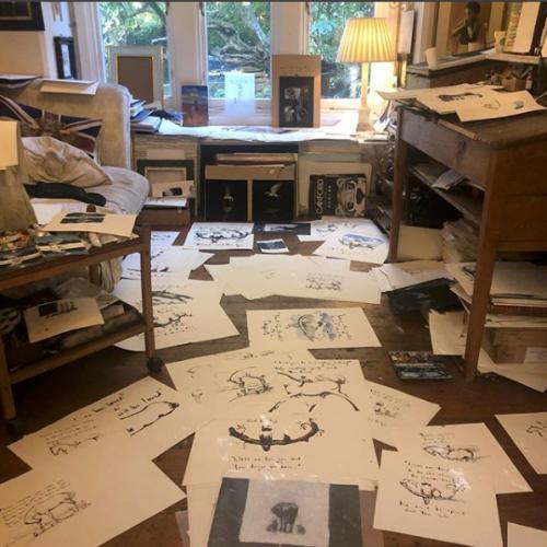 Charlie Mackesy studio