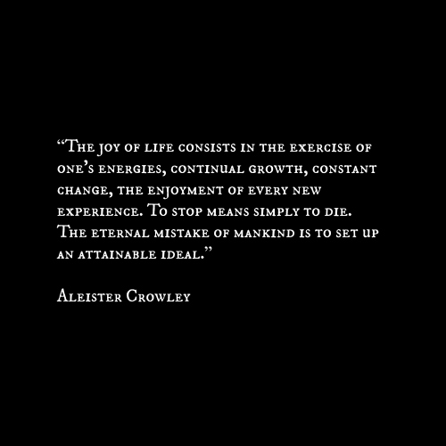 aleister crowley joy quote